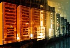 De moderne ruimte van de netwerkserver in gegevenscentrum Royalty-vrije Stock Fotografie