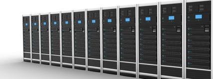De moderne server van de rij Royalty-vrije Stock Afbeeldingen