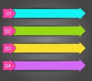 De moderne spiraalvormige banner van infographicsopties Stock Afbeelding