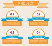 De moderne spiraalvormige banner van infographicsopties Royalty-vrije Stock Foto's