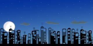 De moderne stad van de nacht Stock Foto