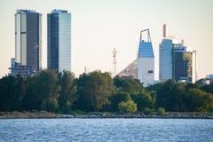 De moderne stad van Tallinn scappe royalty-vrije stock afbeelding