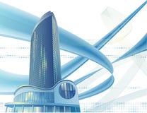 De moderne stadsbouw Stock Afbeeldingen