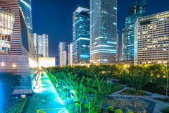 De moderne stadsbouw, Shanghai Stock Foto's