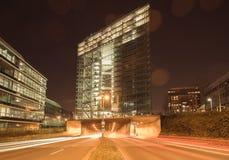 De moderne stadspoort van Dusseldorf royalty-vrije stock afbeeldingen