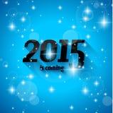 De moderne Stijl 2015 Nieuwjaar is komende achtergrond Stock Foto
