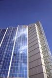 De moderne structuur van de glasvoorzijde Stock Afbeelding