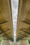 De moderne structuur van de straalbrug Stock Foto's