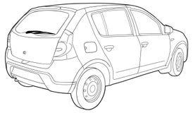 De moderne technische auto trekt Stock Afbeelding