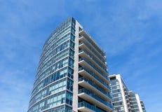 De moderne Toren van het Flatgebouw met koopflats Stock Fotografie