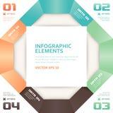 De moderne van het Aantalopties van de Origamistijl Banner van Infographics stock illustratie