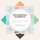 De moderne van het Aantalopties van de Origamistijl Illustratie van Infographic vector illustratie