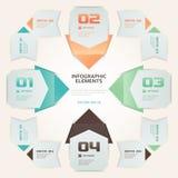 De moderne van het Aantalopties van de Origamistijl Illustratie van Infographic Stock Fotografie