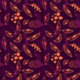De in moderne vector Abstracte de Herfstbladeren vallen bloemen naadloos patroon stock illustratie