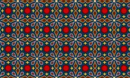 De moderne Vector van het Batikpatroon stock illustratie