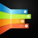 De moderne vector volledige grafische bar van de kleureninformatie Royalty-vrije Stock Foto's