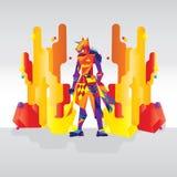De moderne Vectorillustratie van Anubis Stock Foto's