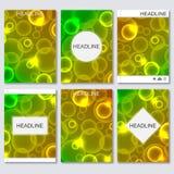 De moderne vectormalplaatjes voor brochure, vlieger, dekkingstijdschrift of rapport in A4 grootte, vatten vage achtergrond samen Vector Illustratie