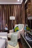De moderne villa van het de bankontwerp van het luxe binnenlandse huis Royalty-vrije Stock Afbeeldingen