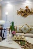 De moderne villa van het de decoratieontwerp van het luxe binnenlandse huis Royalty-vrije Stock Foto