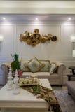 De moderne villa van het de decoratieontwerp van het luxe binnenlandse huis Stock Foto's
