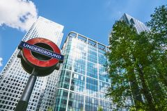 De moderne wolkenkrabber van bureaugebouwen in de stad van Londen royalty-vrije stock foto
