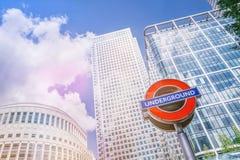 De moderne wolkenkrabber van bureaugebouwen in de stad van Londen royalty-vrije stock fotografie