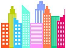 De moderne Wolkenkrabbers van de Stadshorizon royalty-vrije illustratie