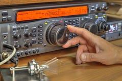 De moderne zendontvanger van de hoge frequentie radioamateur stock afbeeldingen
