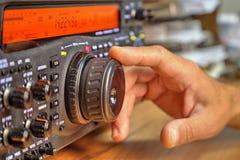 De moderne zendontvanger van de hoge frequentie radioamateur royalty-vrije stock foto's