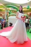 De modeshow van de huwelijkskleding Stock Afbeelding