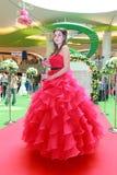 De modeshow van de huwelijkskleding Stock Foto
