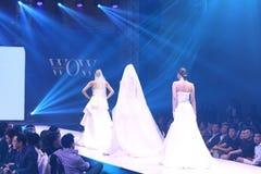 De modeshow van ` Vientiene vormt WAUW Week 2017 ` Stock Fotografie