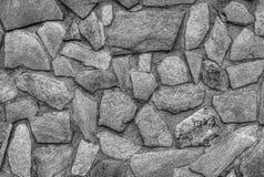 De modieuze achtergrond van de steenmuur in zwart-wit Stock Afbeelding