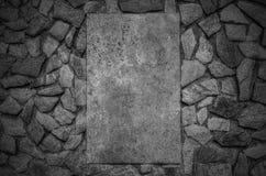 De modieuze achtergrond van de steenmuur in zwart-wit Royalty-vrije Stock Foto's