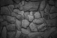 De modieuze achtergrond van de steenmuur in zwart-wit Royalty-vrije Stock Afbeeldingen