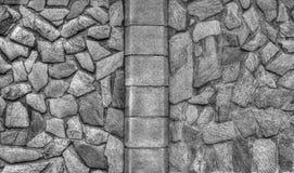 De modieuze achtergrond van de steenmuur in zwart-wit Royalty-vrije Stock Afbeelding