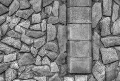 De modieuze achtergrond van de steenmuur in zwart-wit Stock Fotografie
