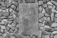 De modieuze achtergrond van de steenmuur in zwart-wit Royalty-vrije Stock Fotografie