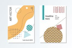 De Modieuze en moderne stijl van het bedrijfsbrochureontwerp stock illustratie