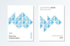 De Modieuze en moderne stijl van het bedrijfsbrochureontwerp vector illustratie