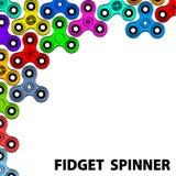 De modieuze groetkaart met friemelt de informatie van de spinnertekst fidget vector illustratie
