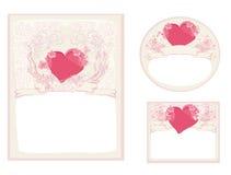De modieuze inzameling van valentijnskaartkaarten Royalty-vrije Stock Fotografie