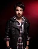 De modieuze Jongen van de Tiener Stock Fotografie
