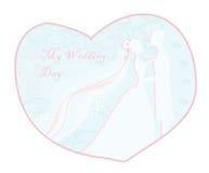 De modieuze kaart van de huwelijksuitnodiging Stock Afbeelding