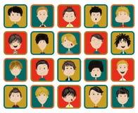 De modieuze mannelijke inzameling van mensenkarakters van divers beroep, beroep Stock Afbeelding