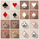 De modieuze pictogrammen van het kaartkostuum Royalty-vrije Stock Foto