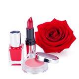 De modieuze schoonheidsmiddelen met verse rood namen toe Royalty-vrije Stock Afbeelding