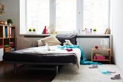 De modieuze slaapkamer van het schoolmeisje Royalty-vrije Stock Foto
