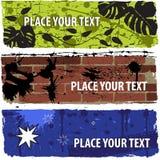 De modieuze vastgestelde banners van Grunge Stock Foto
